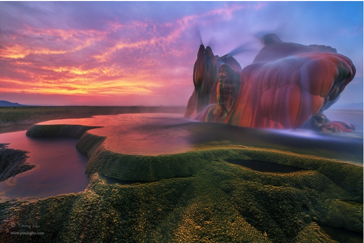 surreal places: Fly Geyser United States