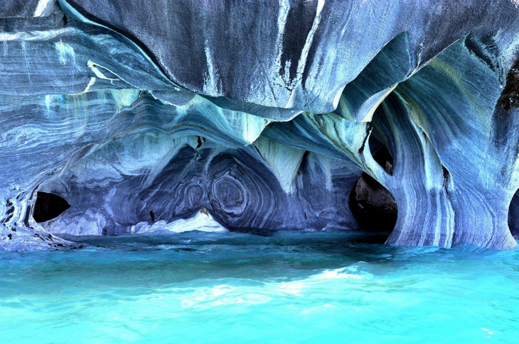 surreal places: The Marble Quarries Patagonia , Chile