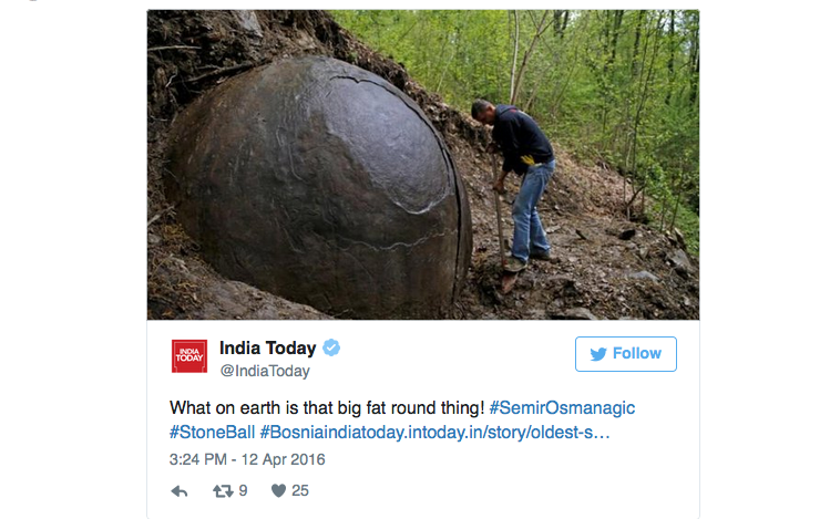 India Today on twitter: discover a mysterious sphere, perhaps an object of an ancient civilization