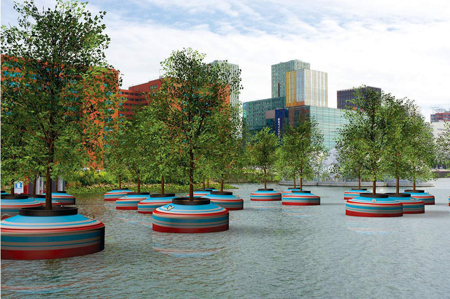 incredible floating forest in rotterdam