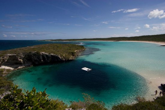 Dean di Blue Hole, Long Island, Bahamas
