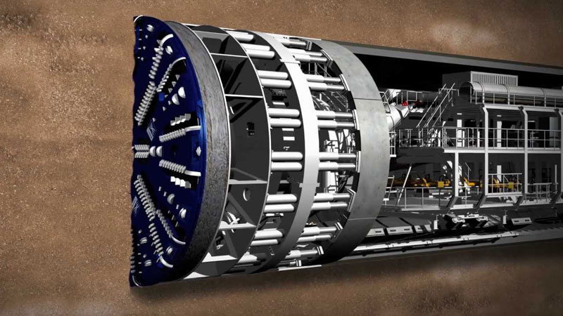 Tunnel Boring Machine di Elon Msk